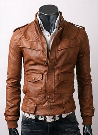 Get An Amazing Super Offer At Slim Fit Light Brown Leather