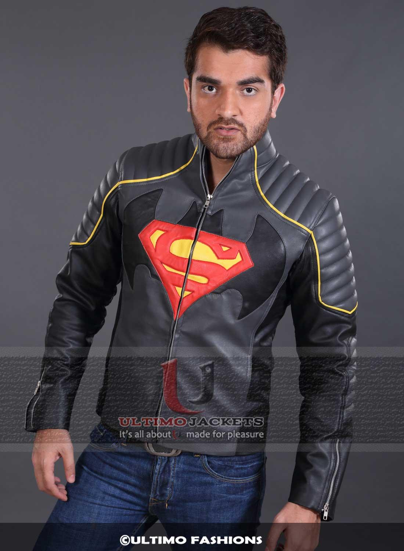 Leather jacket vs motorcycle jacket - Batman Vs Superman Black Leather Jacket