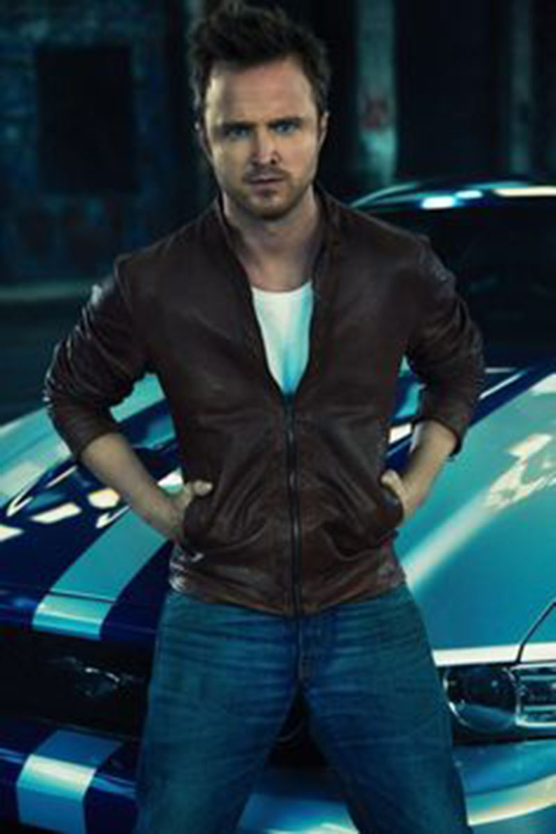 Need for Speed Aaron Paul Movie Brown Leather Jacket