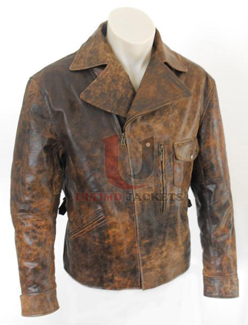 Distressing a leather jacket